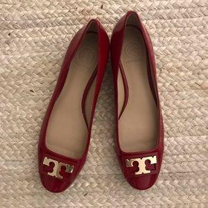 Tory Burch T block kitten heels, size 8